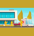 coronavirus infected transportation composition vector image vector image