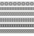 decorative seamless borders vintage set vector image vector image