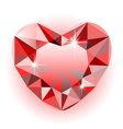 Diamond heart vector image vector image