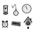 Different kinds of clocks vector image