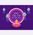diwali big sale poster design with 40-70 discount vector image vector image