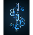 Dollar sign font from numbers vector image