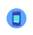 ebook icon book and smart phone vector image