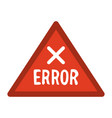 error sign icon image vector image