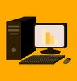 flat icon on stylish background office computer vector image vector image