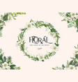 floral frame with wreath vector image vector image