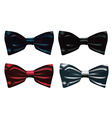 four bow ties vector image vector image
