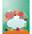 Frame and Coral Reef and Marine life - Underwater vector image vector image