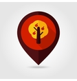 Fruit tree flat mapping pin icon vector image vector image