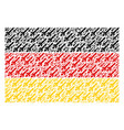 germany flag collage of missile launch icons vector image