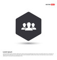 group of people icon hexa white background icon vector image