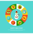 Happy New Year Infographic vector image vector image