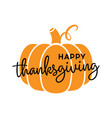 happy thanksgiving pumpkin icon vector image vector image