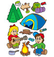 holiday camping collection vector image