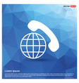 international call icon vector image