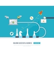 Investment in education Business development vector image vector image