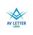 letters a and v logo design template vector image