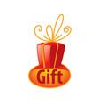 logo gift vector image vector image