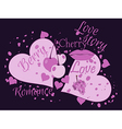 Love story Beautiful print for t-shirts and textil vector image
