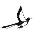 magpie fly icon simple style vector image vector image