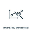 marketing monitoring icon premium style design vector image vector image