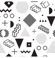 Memphis background Seamless abstract pattern vector image vector image