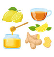 natural cough remedies honey vitamin c lemon vector image vector image