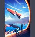 new civilization in art vector image vector image