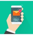 New email message notification on mobile phone vector image vector image