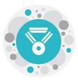 of web symbol on award icon vector image vector image
