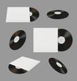 old vinyl dj record stuff vinyl vintage for music vector image
