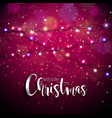 on a christmas theme with vector image vector image