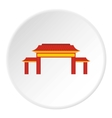 Pagoda icon flat style vector image vector image