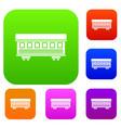 passenger train car set collection vector image vector image