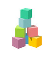 pastel colored blank block building tower vector image
