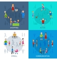 People Daily Situation Icon Set vector image vector image