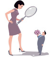 Picky woman vector image