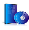 Realistic Blue Case for DVD Or CD Disk vector image vector image