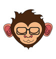 relaxed or in bliss cute expressive monkey wearing vector image