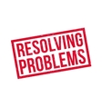 Resolving Problems rubber stamp vector image vector image