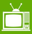 retro tv icon green vector image vector image