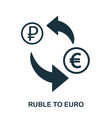 ruble to euro icon mobile app printing web site vector image vector image