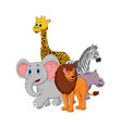safari animal cartoon isolated on white background vector image