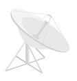 Satellite dish antenna vector image vector image