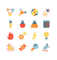 science research flat icon set vector image