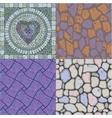 set floor stone textures vector image