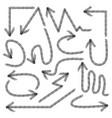 set hand drawn arrows doodle design elements vector image vector image