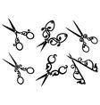 Set of retro scissors vector image vector image
