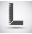 Setsquare icon vector image vector image