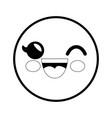 smiley cartoon childish vector image